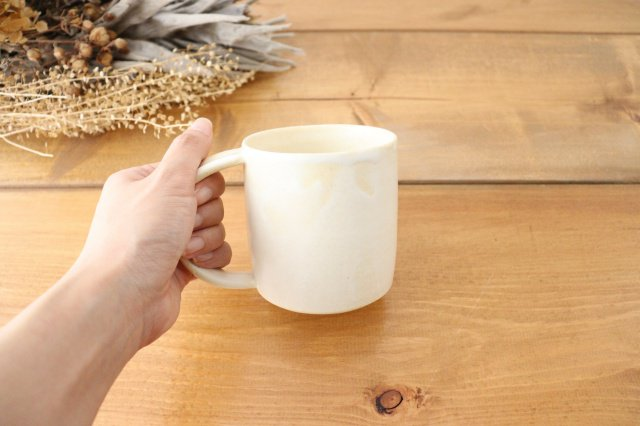 マグカップ 白 陶器 酒井陶太 画像5