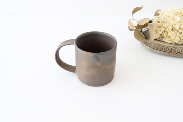マグカップ 黒 陶器 酒井陶太