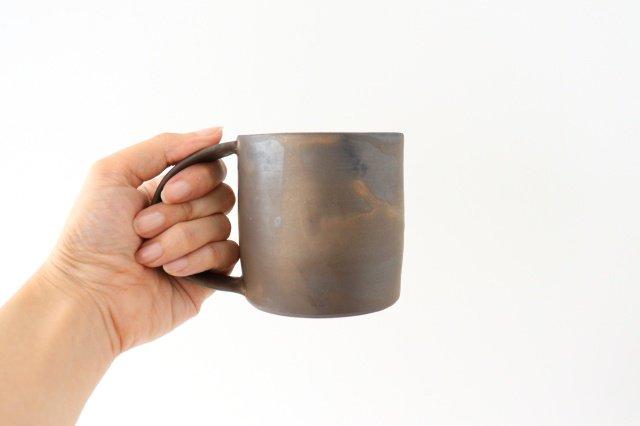マグカップ 黒 陶器 酒井陶太 画像2