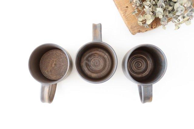 マグカップ 黒 陶器 酒井陶太 画像3
