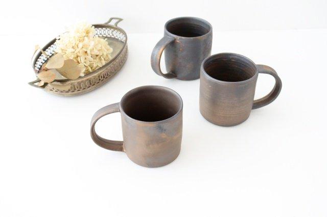 マグカップ 黒 陶器 酒井陶太 画像6