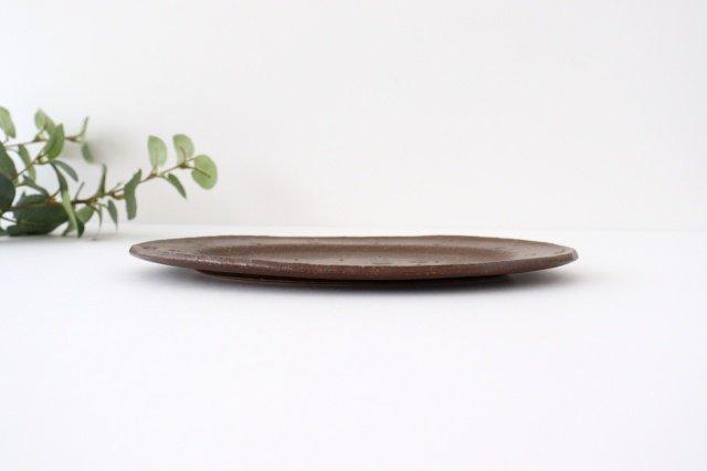 楕円皿 あめ釉 うたたね 陶器 こむろしずか 画像6