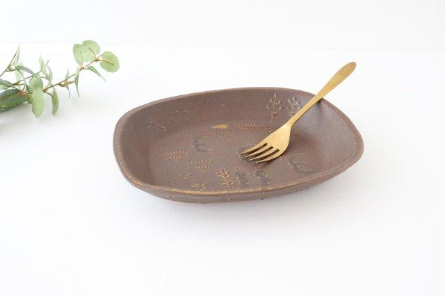 耐熱四角皿 うたたね 陶器 こむろしずか 画像2