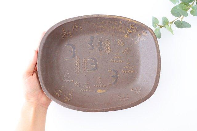 耐熱四角皿 うたたね 陶器 こむろしずか 画像3