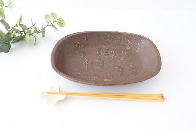 耐熱四角皿 うたたね 陶器 こむろしずか 画像6