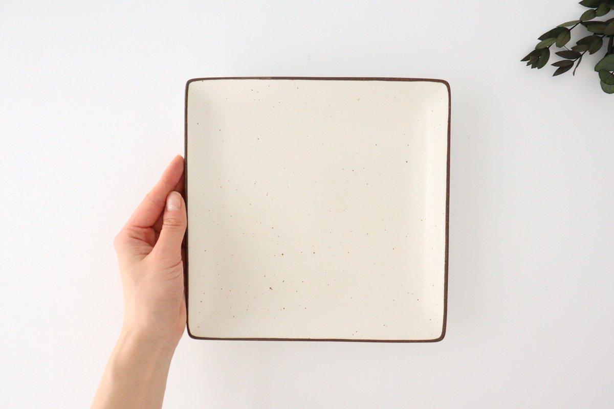 7寸正角皿 白 磁器 美濃焼 画像3