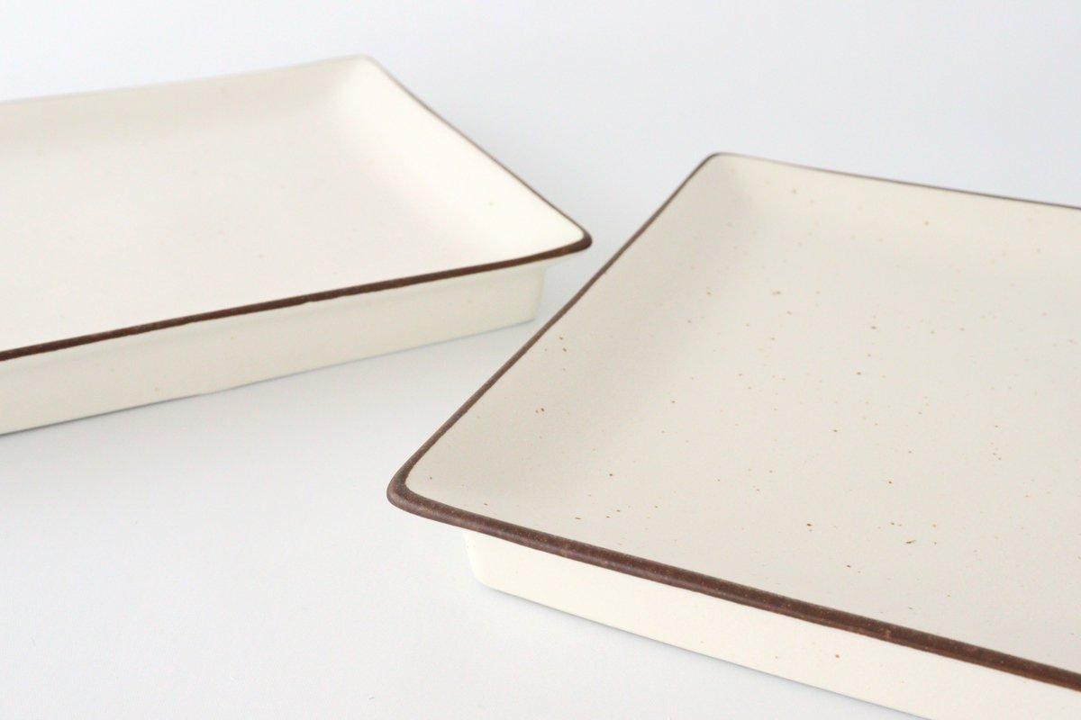 7寸正角皿 白 磁器 美濃焼 画像4