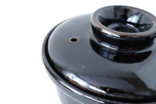 耐熱片手雑炊鍋 黒 耐熱陶器 伊賀焼 画像2
