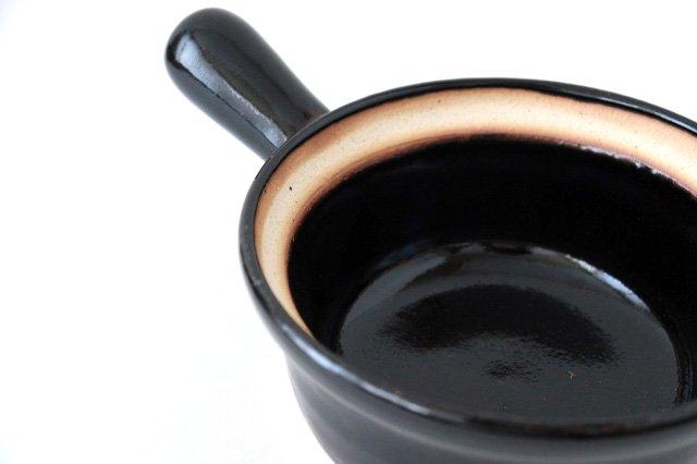 耐熱片手雑炊鍋 黒 耐熱陶器 伊賀焼 画像3