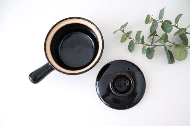 耐熱片手雑炊鍋 黒 耐熱陶器 伊賀焼 画像5