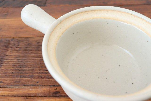 耐熱片手雑炊鍋 白 耐熱陶器 伊賀焼 画像2