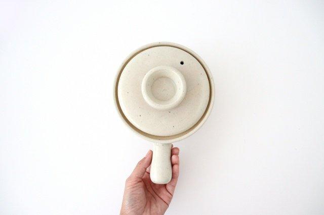 耐熱片手雑炊鍋 白 耐熱陶器 伊賀焼 画像3
