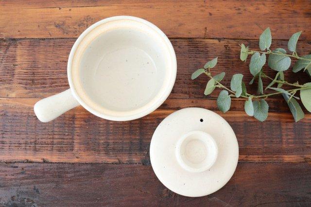 耐熱片手雑炊鍋 白 耐熱陶器 伊賀焼 画像5