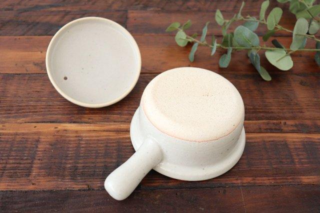 耐熱片手雑炊鍋 白 耐熱陶器 伊賀焼 画像6