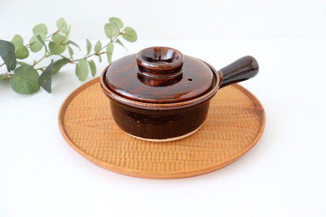 耐熱片手雑炊鍋 茶 耐熱陶器 伊賀焼