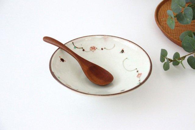 6寸浅鉢 赤絵鉄絵小紋 陶器 南窯 美濃焼