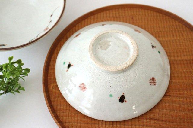 6寸浅鉢 赤絵鉄絵小紋 陶器 南窯 美濃焼 画像2