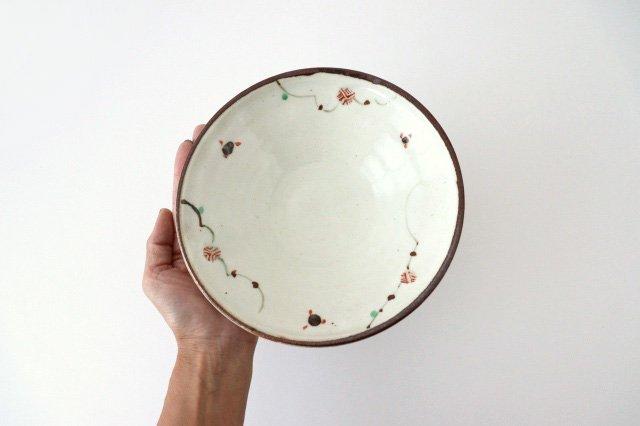6寸浅鉢 赤絵鉄絵小紋 陶器 南窯 美濃焼 画像3