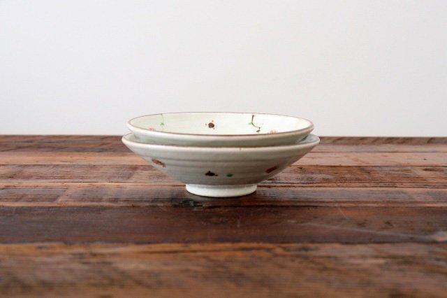 6寸浅鉢 赤絵鉄絵小紋 陶器 南窯 美濃焼 画像5