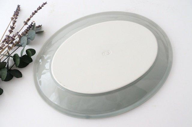 オーバル皿 L ケシズミ 磁器 calme 波佐見焼 画像3