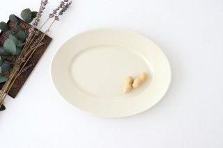 【うちる別注】オーバル皿 M ゆず肌志野 磁器 calme 波佐見焼商品画像