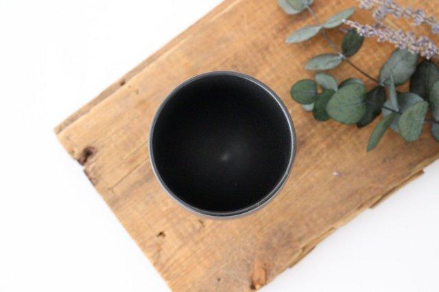 ワインカップ 黒マット 磁器 calme 波佐見焼 画像4