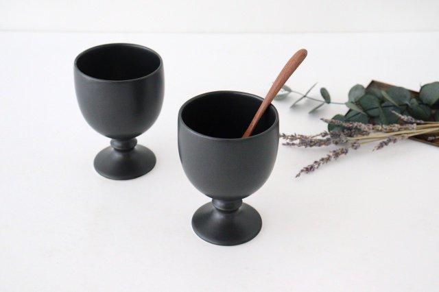 ワインカップ 黒マット 磁器 calme 波佐見焼 画像6