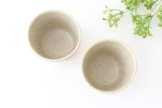 フリーカップ 凸 フラワー ピンク 陶器 苔色工房 田中遼馬 画像3