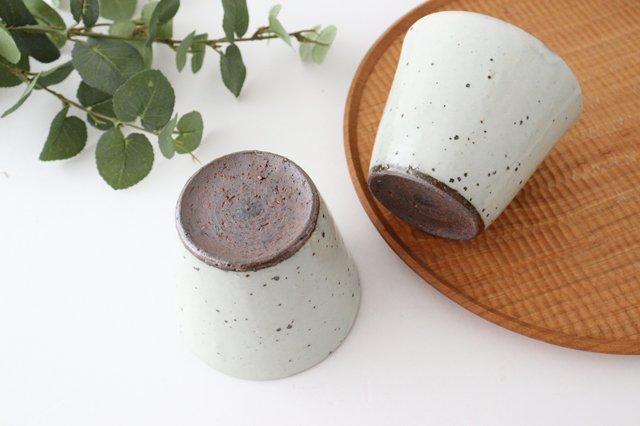 カップ 鉄粉引 陶器 信楽焼 画像3