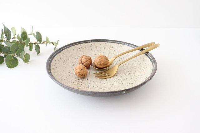 深皿 24cm 白 陶器 信楽焼