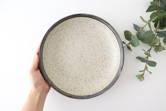 深皿 24cm 白 陶器 信楽焼 画像4