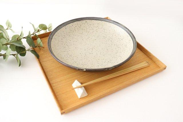 深皿 24cm 白 陶器 信楽焼 画像5