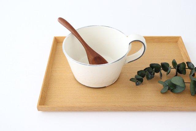 スープカップ 割れ粉引 陶器 信楽焼