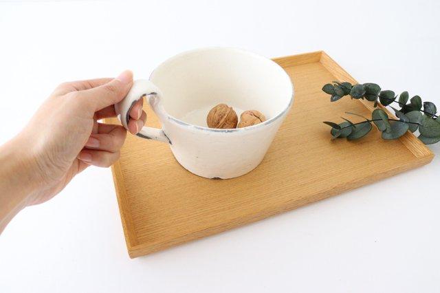 スープカップ 割れ粉引 陶器 信楽焼 画像4