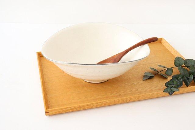タワミ鉢 割れ粉引 陶器 信楽焼