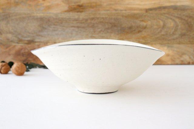 タワミ鉢 割れ粉引 陶器 信楽焼 画像2