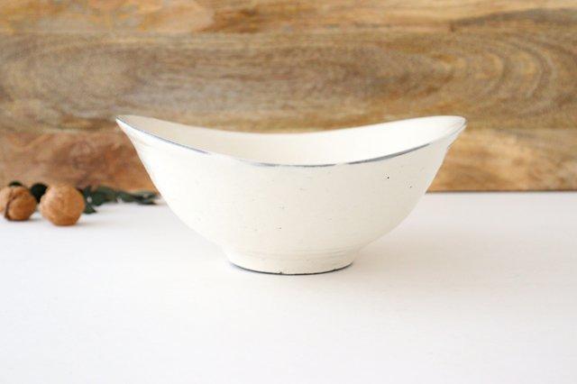 タワミ鉢 割れ粉引 陶器 信楽焼 画像3