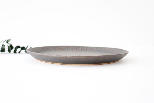 プレート 25cm  鎬 金彩 陶器 信楽焼 画像2