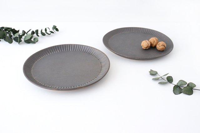 プレート 25cm  鎬 金彩 陶器 信楽焼 画像3