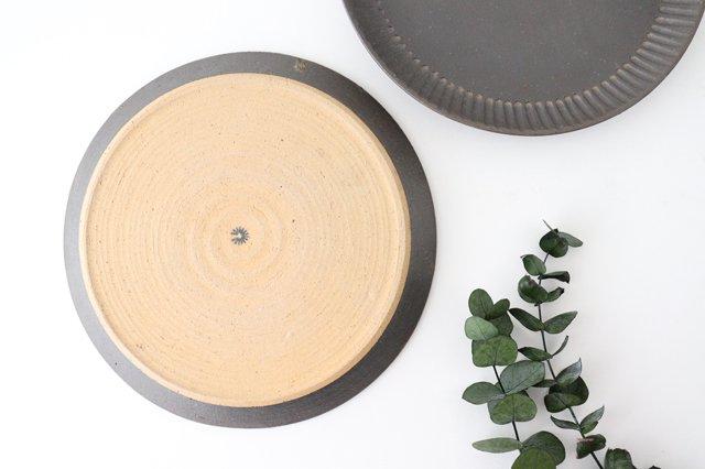 プレート 25cm  鎬 金彩 陶器 信楽焼 画像4