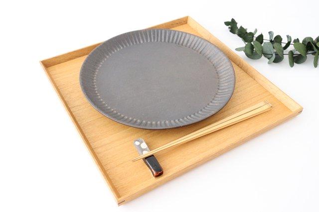 プレート 25cm  鎬 金彩 陶器 信楽焼 画像5