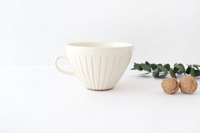 スープカップ 鎬 粉引 陶器 信楽焼
