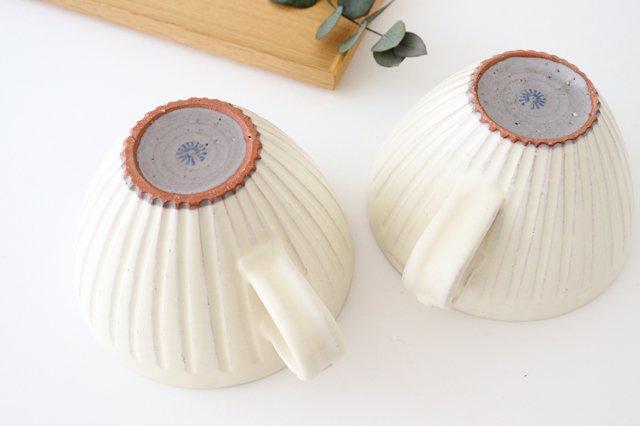 スープカップ 鎬 粉引 陶器 信楽焼 画像3