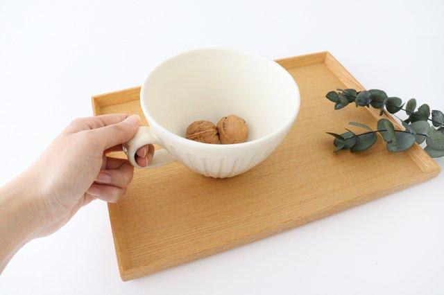 スープカップ 鎬 粉引 陶器 信楽焼 画像4