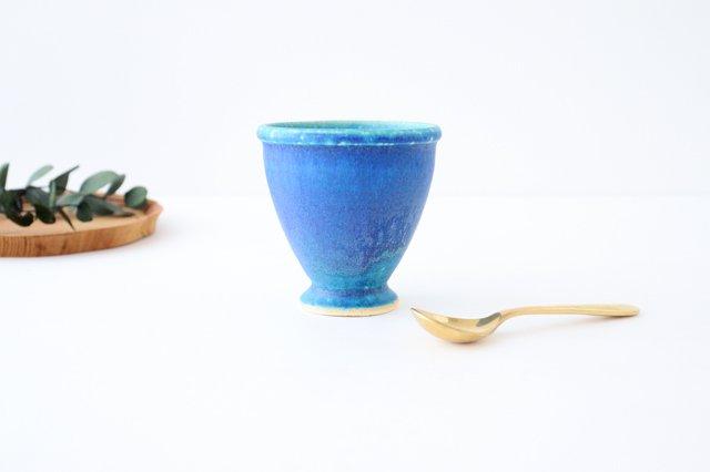 ゴブレット ターコイズ 陶器 信楽焼