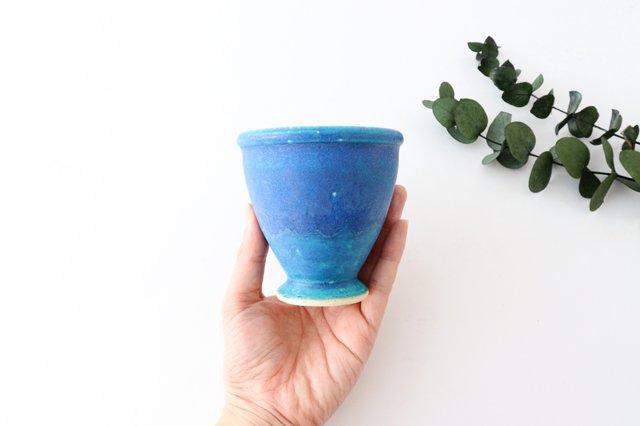 ゴブレット ターコイズ 陶器 信楽焼 画像4