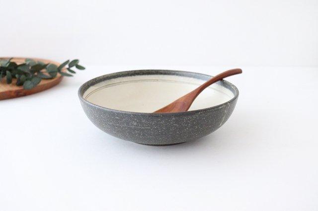 大鉢 灰釉粉引刻線 陶器 信楽焼