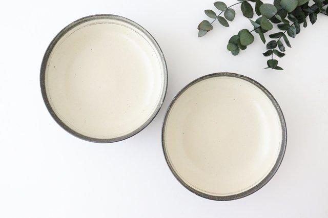 大鉢 灰釉粉引刻線 陶器 信楽焼 画像2