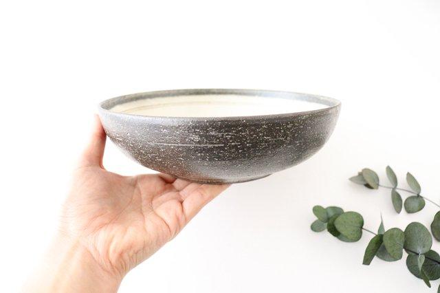 大鉢 灰釉粉引刻線 陶器 信楽焼 画像3