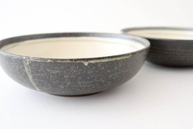 大鉢 灰釉粉引刻線 陶器 信楽焼 画像5